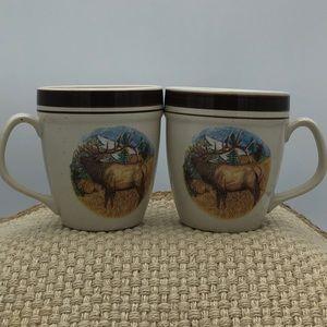 Cabela's Bugling Elk Coffee Mugs Cups Set of 2
